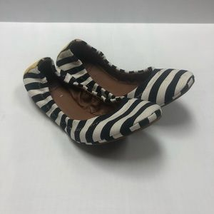 Lucky Brand Canvas Striped Ballet Flats